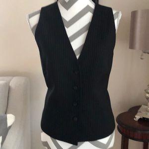 🎉 Women's Black Pin Striped Vest